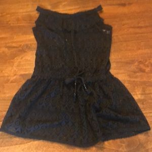 Justice bathing suit cover up. Size 10. Black.
